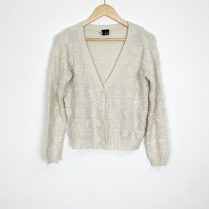 Sparkle & Fade Wool Blend Sweater Cardigan Size S
